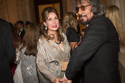 SONIA FALCONE; GASTON UGUGALDE; Dinner for Sonia Falcone to celebrate her participation in 56th Venice Biennale she represented Bolivia at the Pavilion of the Instituto Italo-Latinoamericano at the Arsenale. Dinner at the Ridotto Ballroom, Hotel Monaco and Grand Canal, Venice, Venice Biennale, Venice. 8 May 2015