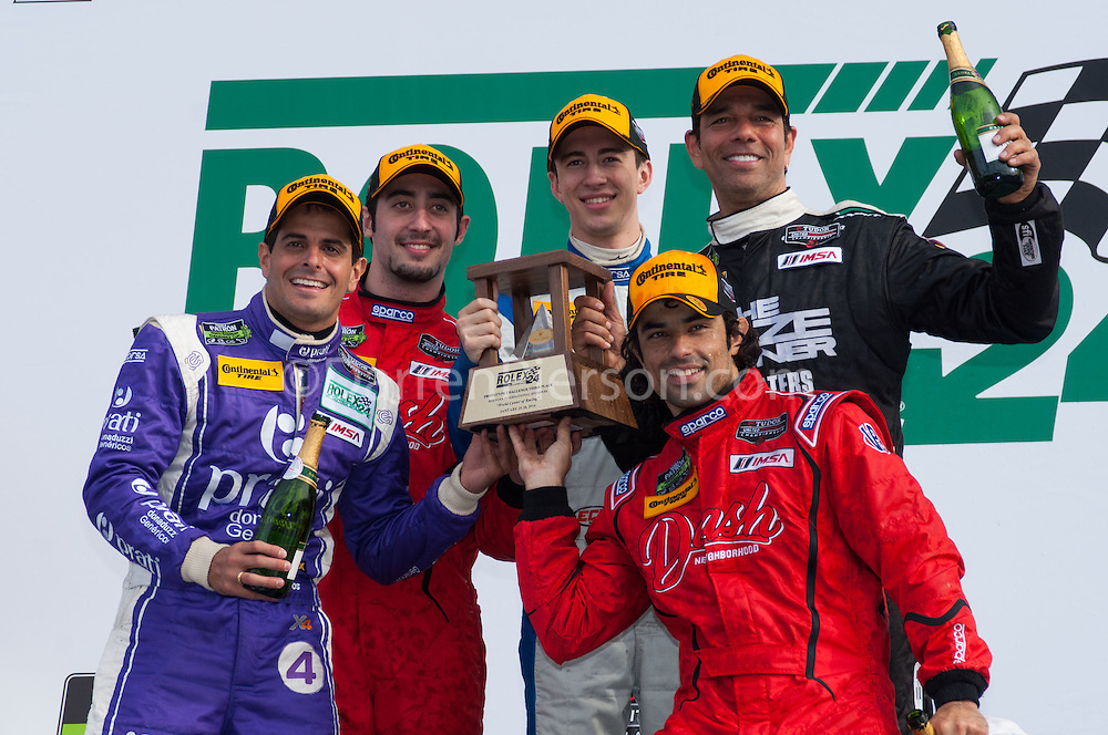 #38 Performance Tech Motorsports ORECA FLM09: David Ostella, Raphael Matos, Tomy Drissi, Gabriel Casagrande, Júlio Campos
