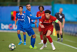 GENK, BELGIUM - Wednesday, October 23, 2019: Liverpool's captain Curtis Jones during the UEFA Youth League Group E match between KRC Genk Under-19's and Liverpool FC Under-19's at the KRC Genk Arena Stadium B. (Pic by David Rawcliffe/Propaganda)