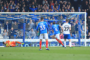 GOAL Brett Pitman scores a penalty 2-0 during the EFL Sky Bet League 1 match between Portsmouth and Rochdale at Fratton Park, Portsmouth, England on 13 April 2019.