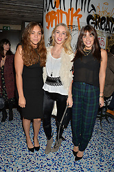 Left to right, MIQUITA OLIVER, LADY MARY CHARTERIS and WILLA KESWICK at a party to celebrate the first anniversary of SushiSamba at the Heron Tower, 110 Bishopsgate, London EC4 on 12th November 2013.