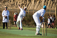 Legends of Cricket - Art Deco Cricket match at Clifton Cricket Club, Hawkes Bay, New Zealand, 25 February 2015. Photo by John Cowpland / alphapix