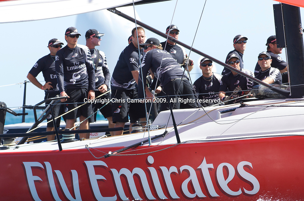 Emirates Team New Zealand win race two, day one, Sardinia Trophy, Audi MedCup 21/7/2009