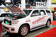 SEMA 2011 in Las Vegas Nevada, an automobile after market show. HH2 technology increases efficiency by creating and adding hydrogen to the combustuion chamber.