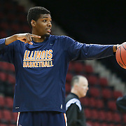 Austin Colbert #31 of the Illinois Fighting Illini on the court prior to the NIT First Round game at Agganis Arena on March 19, 2014 in Boston, Massachusetts . (Photo by Elan Kawesch)
