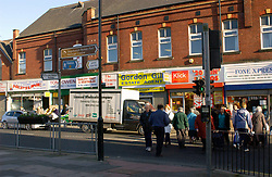 People shopping in Wallsend High Street; Tyneside; NE England