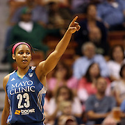 Maya Moore, Minnesota Lynx, during the Connecticut Sun Vs Minnesota Lynx, WNBA regular season game at Mohegan Sun Arena, Uncasville, Connecticut, USA. 27th July 2014. Photo Tim Clayton