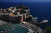 2000, Vernazza, Italy --- Village of Vernazza --- Image by © Owen Franken/CORBIS
