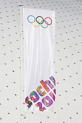 The XXII Winter Olympic Games 2014 in Sotchi, Olympics, Olympische Winterspiele Sotschi 2014<br /> Olympic Park, Olympischer Park, flag, flags,