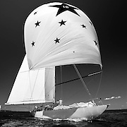 Columbia, 12 Meter Class, sailing in the Museum of Yachting Classic Yacht Regatta.
