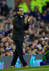 LIVERPOOL, ENGLAND - Saturday, January 4, 2014: Everton's manager Roberto Martinez during the FA Cup 3rd Round match against Queens Park Rangers at Goodison Park. (Pic by David Rawcliffe/Propaganda)