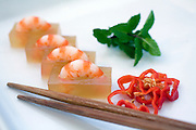 """Prawns in Satin"" is served at the Yin Yang restaurant in Hong Kong."