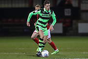Forest Green Rovers Charlie Cooper(15) runs forward during the EFL Sky Bet League 2 match between Crewe Alexandra and Forest Green Rovers at Alexandra Stadium, Crewe, England on 20 March 2018. Picture by Shane Healey.