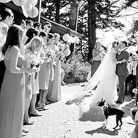 Travis and Amy's Vancouver Island wedding ceremony.