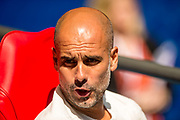 Joseph Guardiola manager of Manchester City during the FA Community Shield match between Chelsea and Manchester City at Wembley Stadium, London, England on August 5, 2018, photo Salvio Calabrese/UKSP / SpainProSportsImages / DPPI / ProSportsImages / DPPI