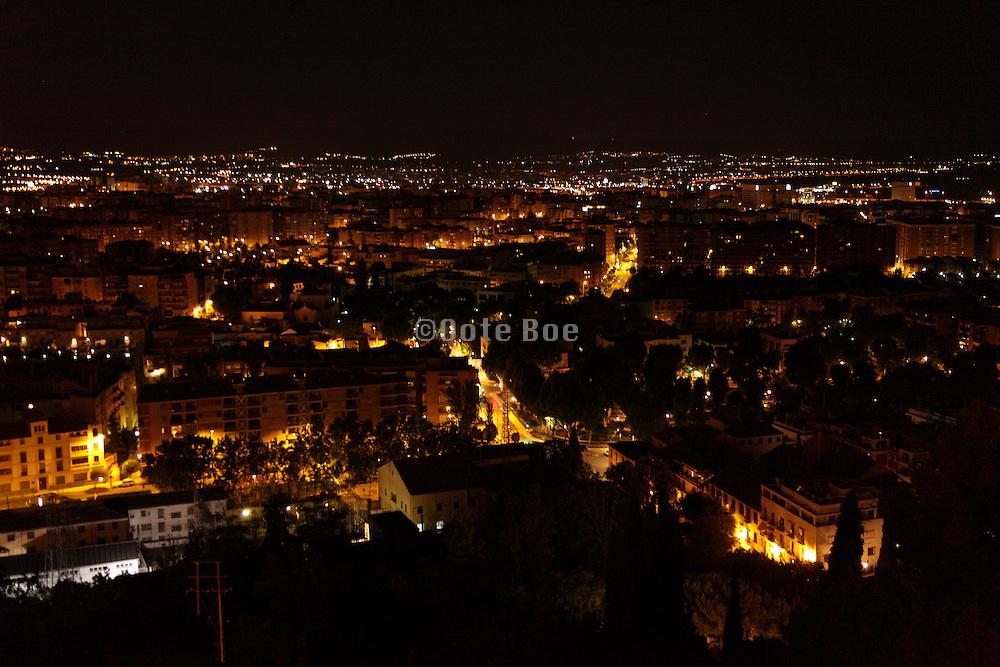 Granada seen by night Spain