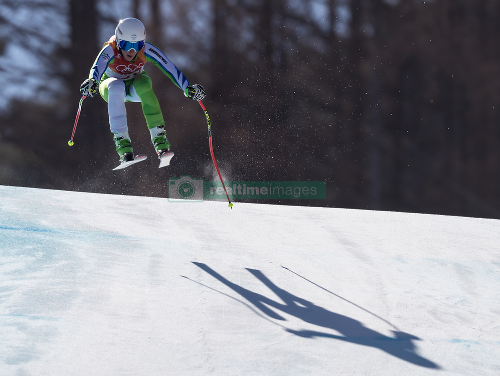 February 17, 2018 - PyeongChang, South Korea - TINA ROBNIK of Slovenia during Alpine Skiing: Ladies Super-G at Jeongseon Alpine Centre at the 2018 Pyeongchang Winter Olympic Games. (Credit Image: © Patrice Lapointe via ZUMA Wire)