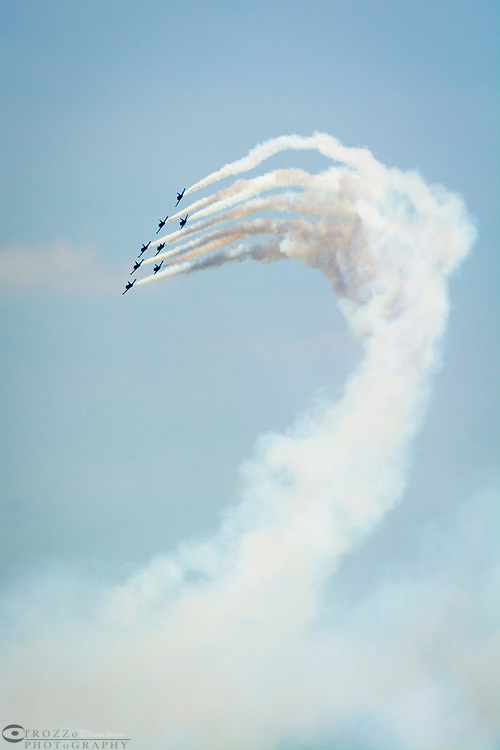 Breitling Jet precision flying team, performs over the skies of Annapolis, Maryland.