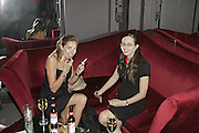 HANNAH ROSS AND EMILY JESPER. The Bedroom Secrets of the Master Chefs by Irvine Welsh. the Play Room, 10 Air St. London. 3 August 2006. ONE TIME USE ONLY - DO NOT ARCHIVE  © Copyright Photograph by Dafydd Jones 66 Stockwell Park Rd. London SW9 0DA Tel 020 7733 0108 www.dafjones.com