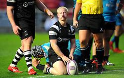 Reiss Cullen of Bristol Bears scores a try- Mandatory by-line: Nizaam Jones/JMP - 19/01/2019 - RUGBY - Ashton Gate Stadium - Bristol, England - Bristol Bears v Enisei-STM - European Rugby Challenge Cup