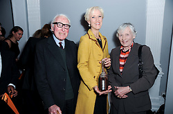 LAURA TENISON and her parents at the presentation of the Veuve Clicquot Business Woman Award 2010 held at the Institute of Contemporary Arts, 12 Carlton House Terrace, London on 23rd March 2010.  The winner was Laura Tenison - Founder and Managing Director of JoJo Maman Bebe.