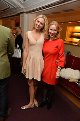 Left to right, EKATERINA FIELDS and ANNA DUROC DANNER at the Ave Maya Ballet gala in memory of Maya Plisetskava held at the English National Opera, St.Martin's Lane, London on 6th March 2016.