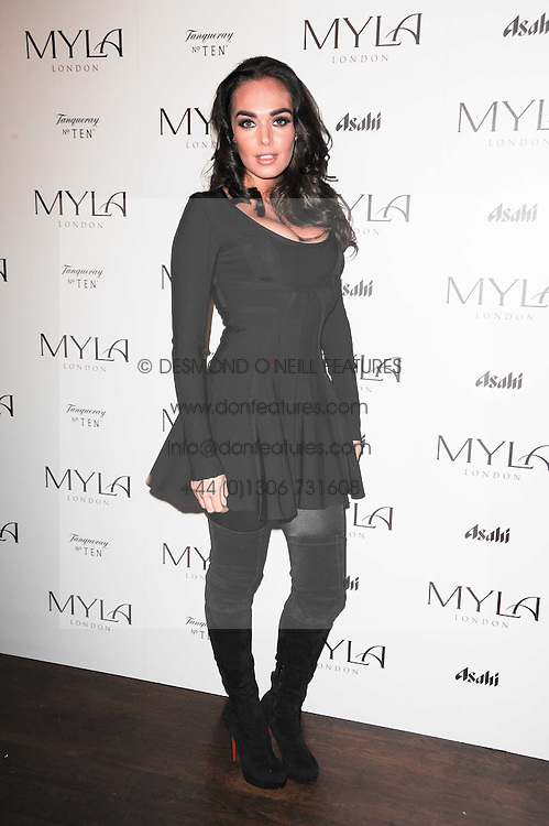 TAMARA ECCLESTONE at a party to celebrate the 10th anniversary of the Myla lingerie brand held at Almada, 17 Berkeley Street, London on 17th November 2010.