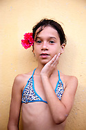 Young girl in Bariay, Holguin, Cuba.