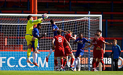 LONDON, ENGLAND - Saturday, September 29, 2018: Liverpool's goalkeeper Kamil Grabara during the Under-23 FA Premier League 2 Division 1 match between Chelsea FC and Liverpool FC at The Recreation Ground. (Pic by David Rawcliffe/Propaganda)