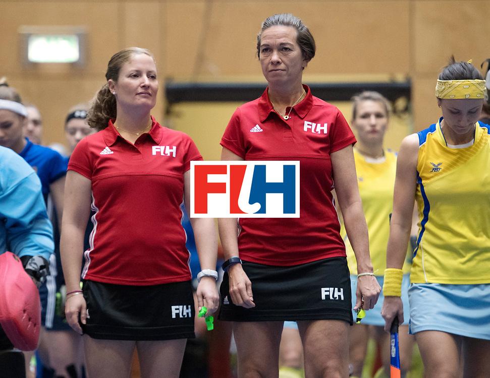 BERLIN - Indoor Hockey World Cup<br /> Kazakhstan - Russia<br /> foto: Line Up<br /> WORLDSPORTPICS COPYRIGHT FRANK UIJLENBROEK