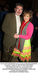 Actress ZOE WANAMAKER and her husband MR GAWN GRAINGER, at a party in London on 10th December 2003.PPM 97