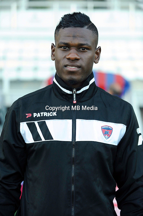 Mamadou THIAM of Clermont during the Ligue 2 match between Clermont Foot and RC Strasbourg Alsace at Stade Gabriel Montpied on September 22, 2016 in Clermont-Ferrand, France. (Photo by Jean Paul Thomas/Icon Sport)