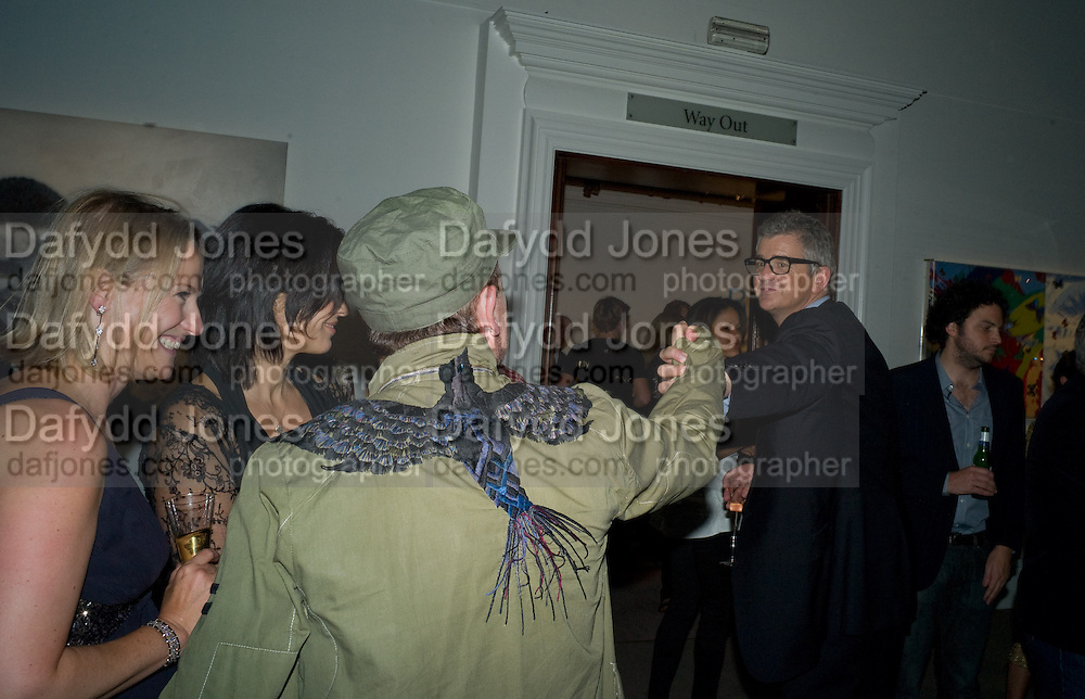 BONO; JAY JOPLING, Damien Hirst party to preview his exhibition at Sotheby's. New Bond St. London. 12 September 2008 *** Local Caption *** -DO NOT ARCHIVE-© Copyright Photograph by Dafydd Jones. 248 Clapham Rd. London SW9 0PZ. Tel 0207 820 0771. www.dafjones.com.