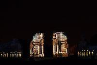 MISION JESUITICA GUARANI SAN IGNACIO MINI ILUMINADA DURANTE UN ESPECTACULO NOCTURNO, SAN IGNACIO, PROVINCIA DE MISIONES, ARGENTINA (© MARCO GUOLI - ALL RIGHTS RESERVED)