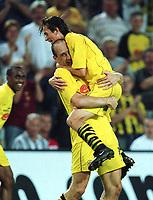 Fotball: 3:1 Jubel v.l. Jan KOLLER , Tomas ROSICKY <br />                             Borussia Dortmund - Schachtjor Donezk  3:1