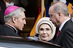 February 5, 2018 - Vatican City, Vatican - Turkish President Erdogan arrives at the Vatican for the visit with Pope Francis, Monday, Feb. 5, 2018. (Credit Image: © Massimo Valicchia/NurPhoto via ZUMA Press)