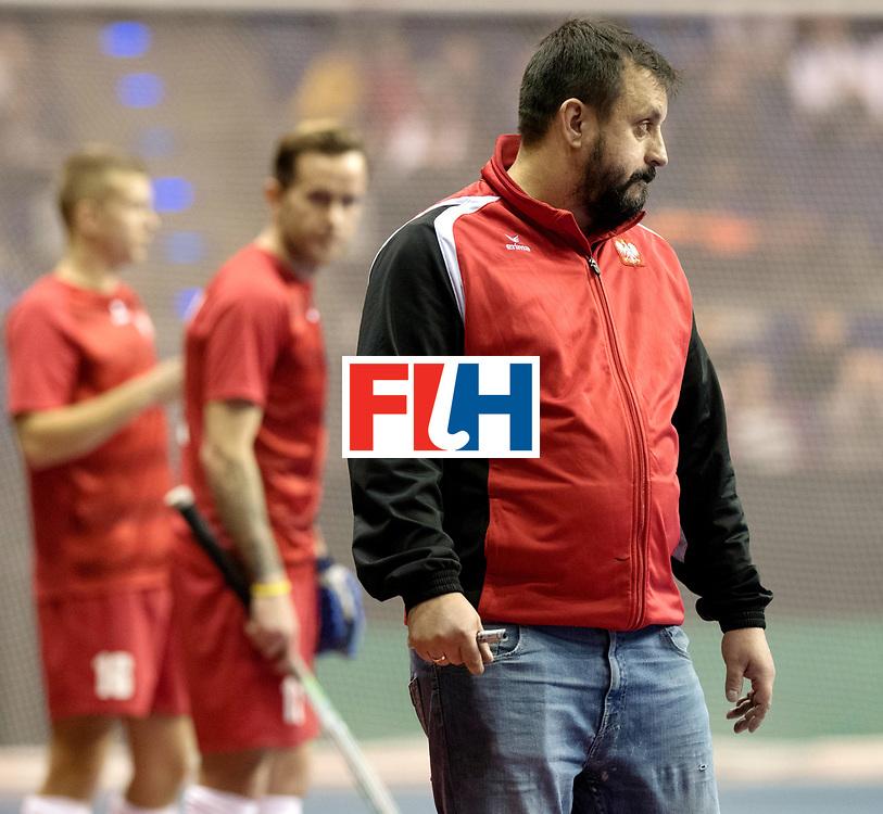 BERLIN - Indoor Hockey World Cup<br /> Quarterfinal 2: Austria - Poland<br /> foto: SNIEZEK Karol.<br /> WORLDSPORTPICS COPYRIGHT FRANK UIJLENBROEK