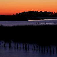 Evening Twilight on the Blackwater River, Blackwater National Wildlife Refuge, Cambridge, MD