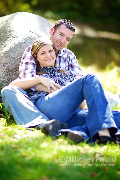 Erica Mason and Josh Vinson engagement sitting in Kokomo, Indiana. <br /> <br /> Kokomo, Indianapolis, Indiana Wedding photography by Michael Hickey