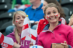 England supporters before the match. England v The Netherlands - Final Unibet EuroHockey Championships, Lee Valley Hockey & Tennis Centre, London, UK on 30 August 2015. Photo: Simon Parker