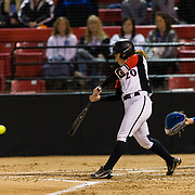 15 February 2018: The San Diego State softball team hosts #25 Kentucky to open up the 28th annual Campbell/Cartier Classic. San Diego State shortstop Shelby Thompson (20) seen here during an at bat in the bottom of the first. The Aztecs lost to the Wildcats 5-0.<br /> More game action at www.sdsuaztecphotos.com