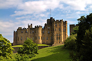 Alnwick Castle, Northumberland. The castle is the family home of the Duke of Northumberland.  It has been used as a location for many films, including Harry Potter, and Robin Hood