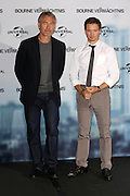 """03.SEPTEMBER.2012. BERLIN<br /> <br /> TONY GILROY AND JEREMY RENNER ATTEND THE """"THE BOURNE LEGACY"""" PHOTOCALL AT THE RITZ CARLTON HOTEL IN BERLIN.<br /> <br /> BYLINE: EDBIMAGEARCHIVE.CO.UK<br /> <br /> *THIS IMAGE IS STRICTLY FOR UK NEWSPAPERS AND MAGAZINES ONLY*<br /> *FOR WORLD WIDE SALES AND WEB USE PLEASE CONTACT EDBIMAGEARCHIVE - 0208 954 5968*"""