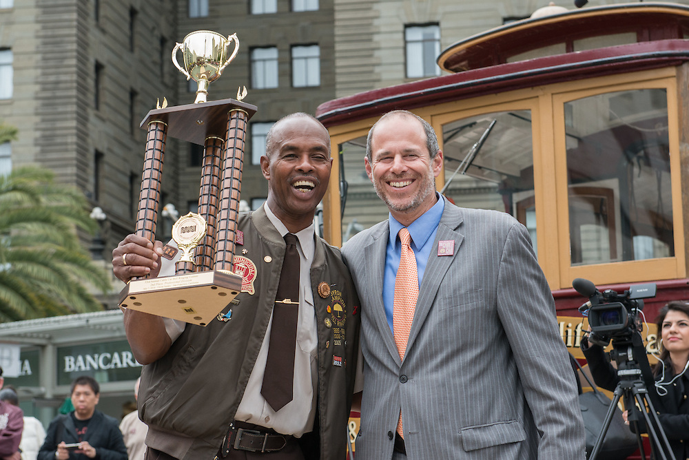 2nd Place Professional Contest Winner Byron Cobb at the 53rd Annual Cable Car Bell Ringing Contest | July 7, 2016
