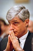 Treasury Secretary Robert Rubin during testimony in the House Banking Committee May 20, 1999 in Washington, DC.