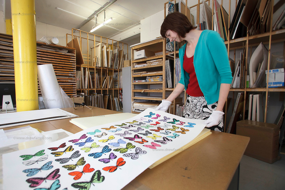 Picture shows : Kerry Paterson - archvist at the.Glasgow Print Studio which will be part of the need Trongate 103 complex..Print Studio Glasgow, King Street, Merchant City Area, Glasgow. Travel guide feature...Picture Drew Farrell. tel : 07721-735041......