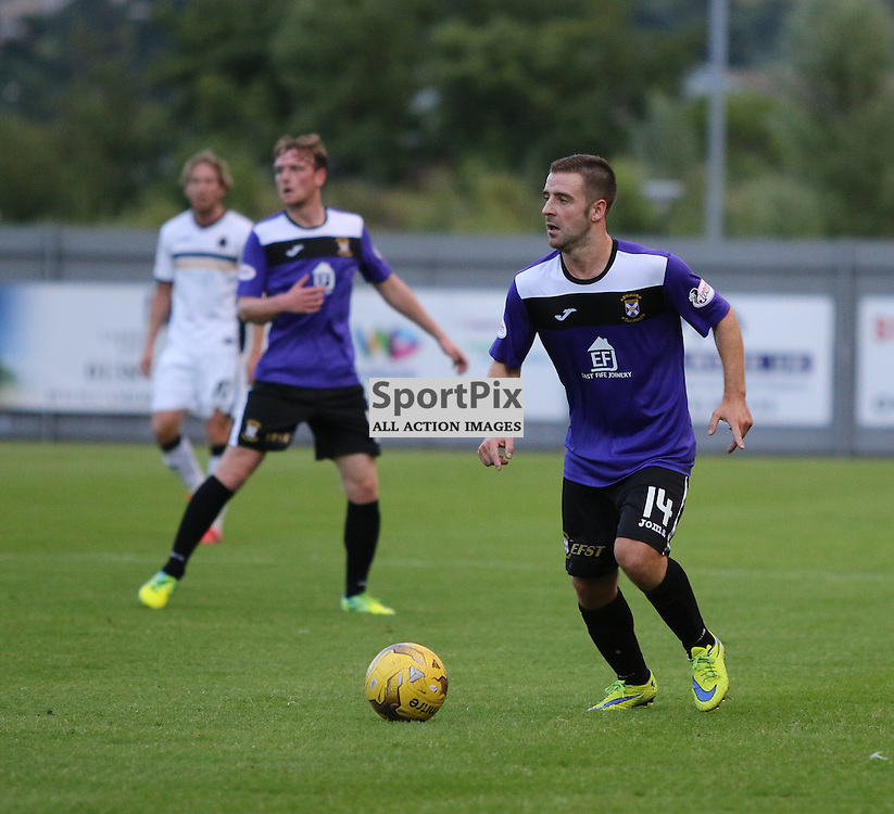 Scott Robinson looks to make a cross  during the Dumbarton v East Fife Scottish League Cup group stage 19 July 2016<br /> <br /> (c) Andy Scott | SportPix.org.uk