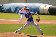 Oxford High's James Lear (1) pitches vs. Lafayette in high school baseball action in Oxford, Miss. on Saturday, April 2, 2011. Oxford won 6-4.
