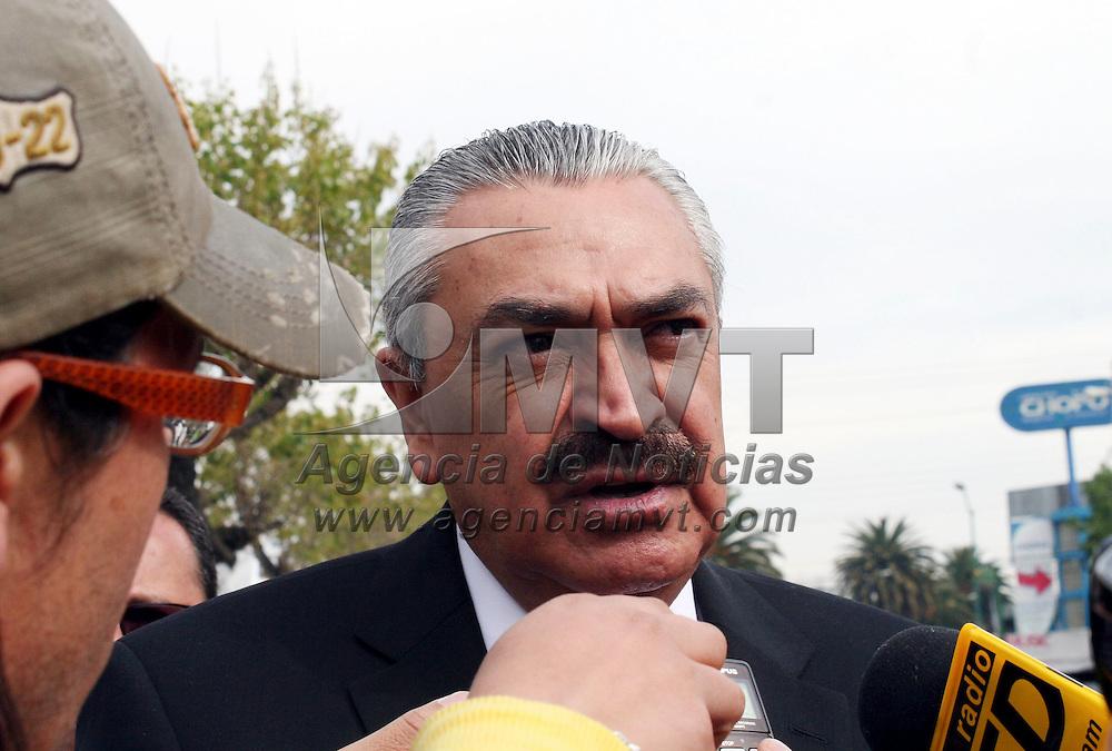 Toluca,  México.- Efrén Rojas, Secretario General de Gobierno durante la celebración del CCVII aniversario del natalicio de Benito Juárez.  Agencia MVT / José Hernández