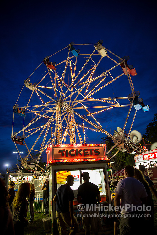 Ferris Wheel and ticket booth at Haynes-Apperson Festival - Kokomo, In